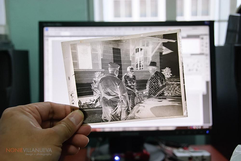 photo of a 4in x 5in negative film